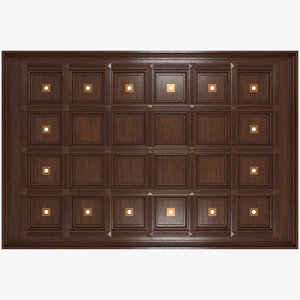 3D coffered ceiling