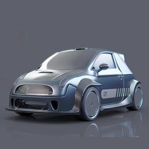 vehicle racecar car 3D