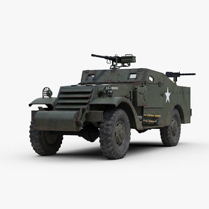 ww2 m3a1 scout car 3D model