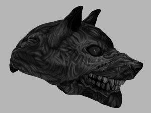 3D zombie wolf
