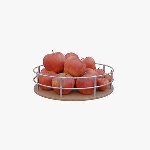 basket apples 3D