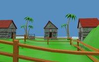 Cartoon house island