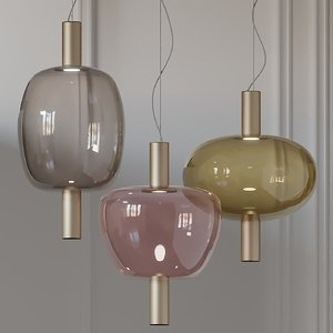 vetreria vistosi riflesso pendant lamp 3D model