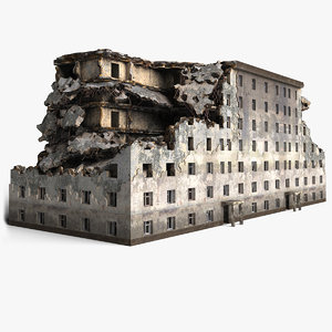 3D ruined building model