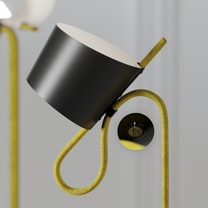 lamp stefan diez rope 3D model