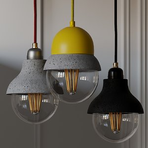 maayan lightweight concrete lamp 3D model