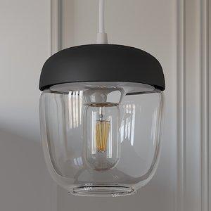 3D lights umage acorn pendant model