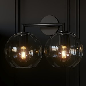 3D sconce utilitaire globe shade