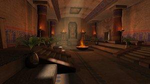 3D temple environment model