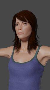 3D model woman ready games adele
