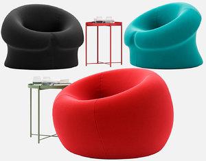 armchair serie 2000 3D model