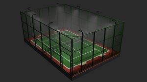 3D public tennis court