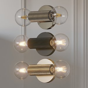 sconce utilitaire in-line wall 3D