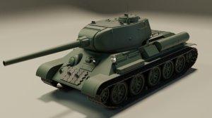 soviet tank 3D