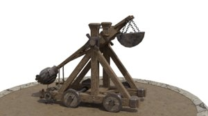 3D model catapult blender
