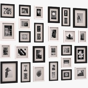 3d max contemporary picture wall