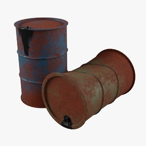 rusty oil barrel model