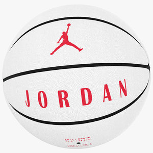 ball jordan ultimate white 3D model