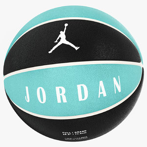 ball jordan ultimate blue 3D model