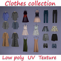 Large collection of clothes for the wardrobe and store