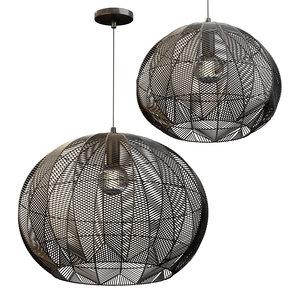 3D wicker pendant lamps