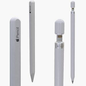 apple pencils 3D model