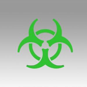 ar biohazard hazard 3D