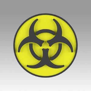3D ar biohazard hazard