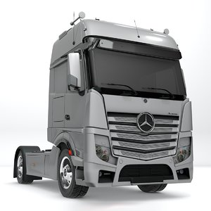 mercedes benz actros white 3D