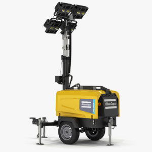 3D light tower atlas copco