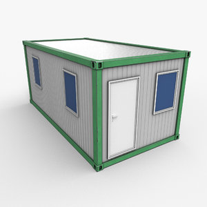 3D model ready office container