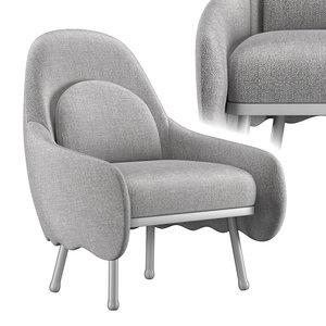3D corolla chair 272 model