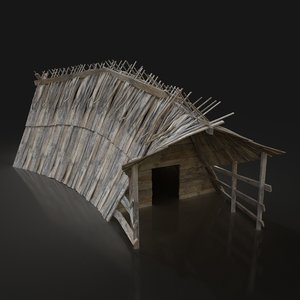 aaa viking house fantasy medieval model