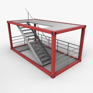 3D model ready stairs container