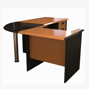 office desk 3D