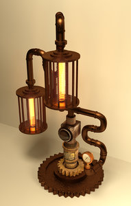 table lamp steampunk 3D model