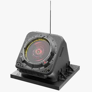 3D circular screen control sci fi