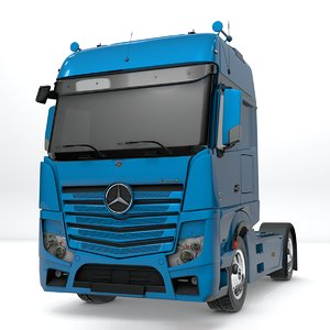 3D mercedes benz actros blue model