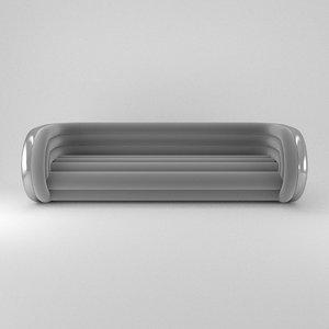 3D sofa aluminum tube