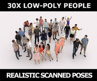 30x PEOPLE CASUAL VOL1 VOL2 SUMMER PEOPLE CROWDS Low-poly