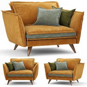 3D model armchair chair seat