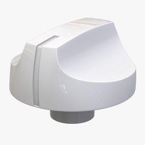 3D model oven button