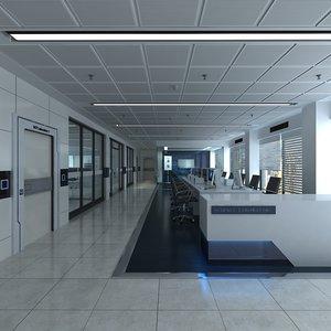 laboratory office scene 3D model