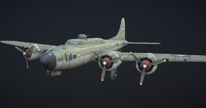 bomber hand-painted 3D model