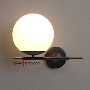globe sconces italy 3D model