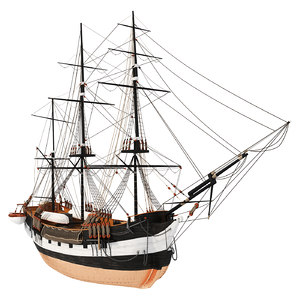 3D old ship beagle