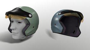 motorcycle f1 helmet - 3D model
