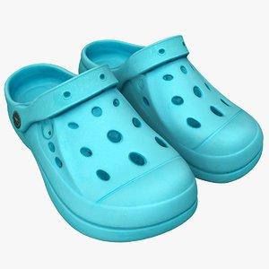 3D model crocs sandals