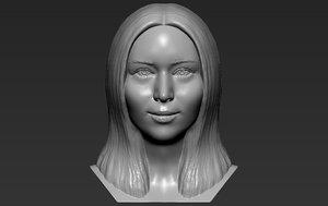 jennifer lawrence bust printing model