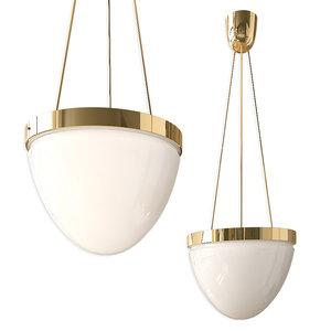 brass moon ceiling lamp 3D model